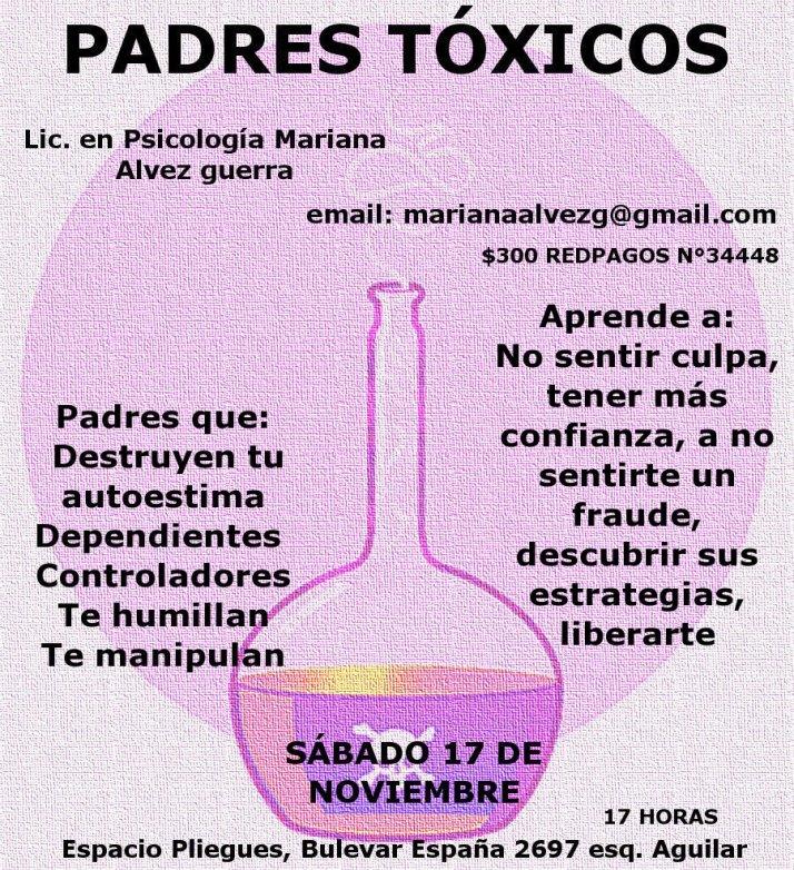Invitación a la charla PADRES TÓXICOS